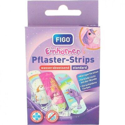 FIGO Pflaster-Strips Kinderpflaster Einhorn Einhörner 10 Strips