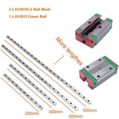 Egr15 Linear Rail Guide Hiwin 300-2500mm2pc Egh15ca Rail Block Carriage Cnc Kit