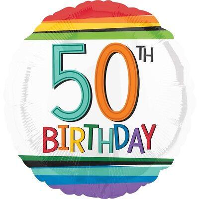 Froh 50th Birthday Regenbogen 45.7cm Party Folien Ballon Dekoration (50th Birthday Party Dekorationen)