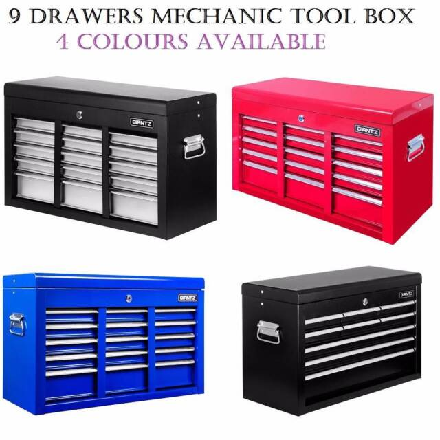 9 drawers mechanic tool box cabinet toolbox chest trolley for Furniture xo out of business