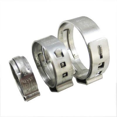 50 Pcs 12 Pex Stainless Steel Clamps Cinch Pinch Rings Nsf - Pex Guy