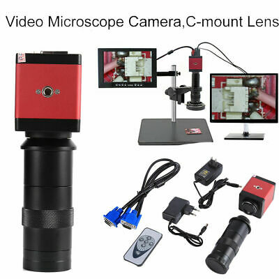 14mp Hdmi Vga Hd Industry 60fs Video Microscope Camera 8-130x Zoom C-mount Lens