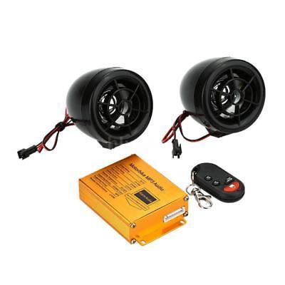 Motorcycle MP3 Player Speaker Audio FM Radio Security Alarm Wireless Remote K9S0