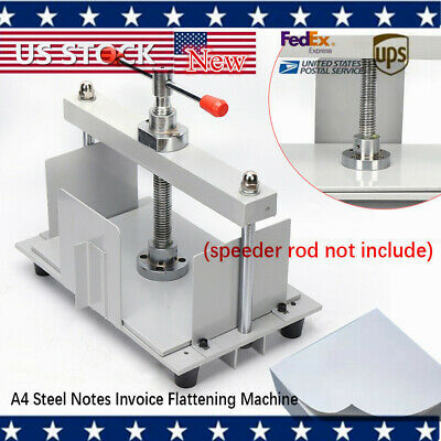 A4 Steel Notes Invoice Flattening Machine Manual Flat Paper Machine W Balance