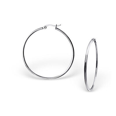Sexy Sparkles High Polish Surgical Stainless Steel 40MM Hoop Earrings for Women Charms & Charm Bracelets