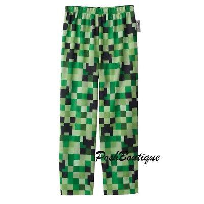 Minecraft Creeper Pants (NWT Minecraft Boys Sz 4-16 Minecraft Creeper Green Pajama PJ Lounge)