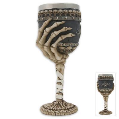Skull&Bones Gothic Wine Goblet-New Halloween Witch Goth
