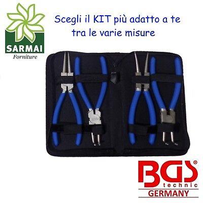 Set pinze per anelli elastici seeger interni e esterni punta diritta e 90° BGS