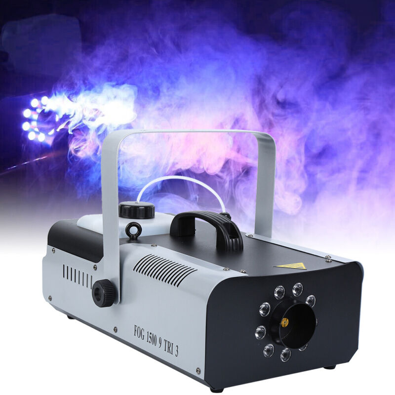 1500W 9 LEDs Light Fog Smoke Effect Machine Portable DMX&Wir
