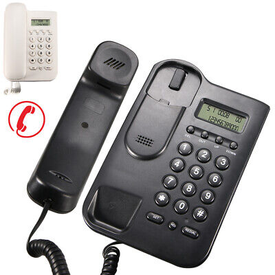 Home Desk Corded Wall Mount Landline Phone Telephone Handset Lcd With Caller Id