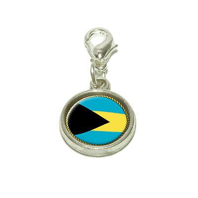 (Flag of Bahamas Dangling Bracelet Pendant Charm)