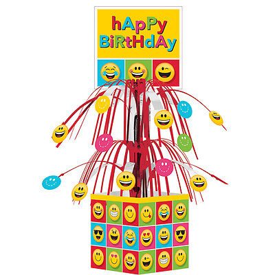 Emoji Character Icons Happy Birthday Cascade Centerpiece Table Decoration - Birthday Emojis