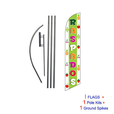 Raspados 15' Feather Banner Swooper Flag Kit with pole+spike