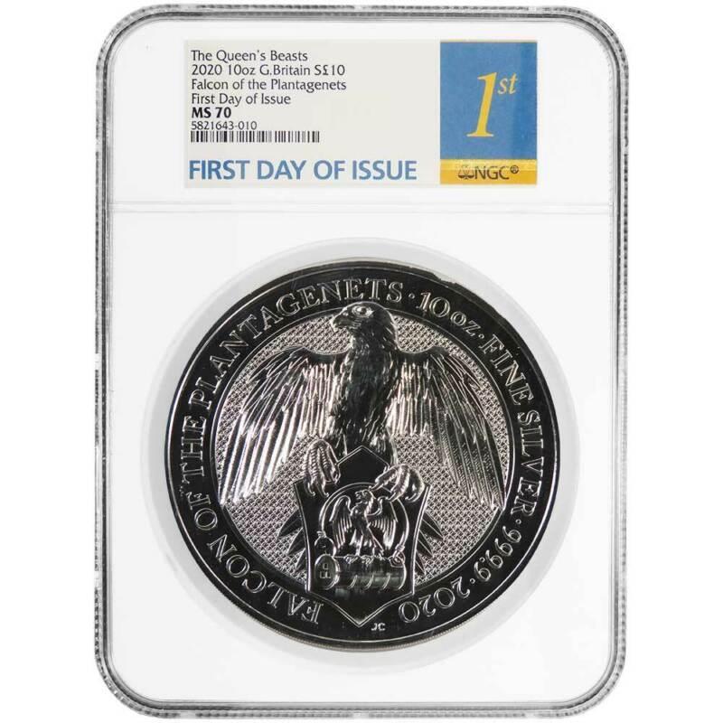 2020 U.K. 10 Pound Silver Queen
