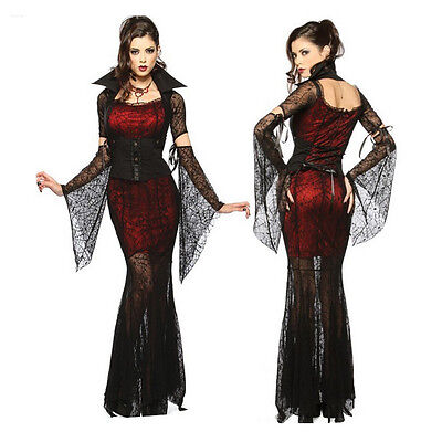 Halloween Costume Vampire Woman (Sexy Witch Vampire Costume for Masquerade Party Halloween Cosplay Costume)