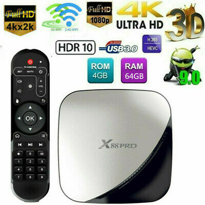 X88 PRO Smart Android9.0 TV Box RK3318 Quad Core 16G/32G/64G