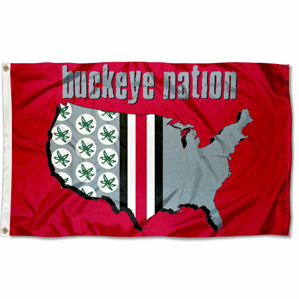 OSU Nation Buckeyes Ohio State University 3' x 5' Flag
