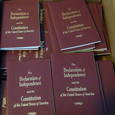 2 Pocket Size United States Declaration Of Independence   Constitution Of The Us