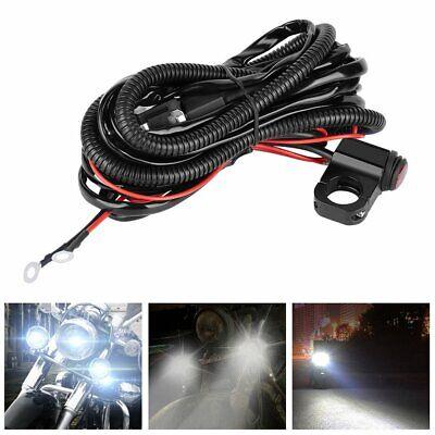 Universal 12V 40A Spot Fog Light Driving Lamp Wiring Harness Switch Loom Kit