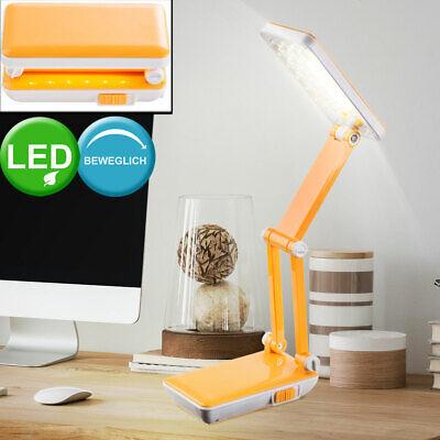 LED Esribir Mesa Iluminación Lámpara de Lectura Naranja Salón Reflector Plegable