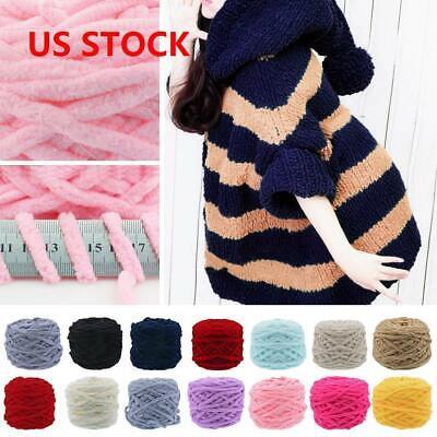Super Soft Bulky Yarn - 100g Chunky Wool Yarn Super Soft Bulky Arm Knitting Wool Roving DIY Crocheting