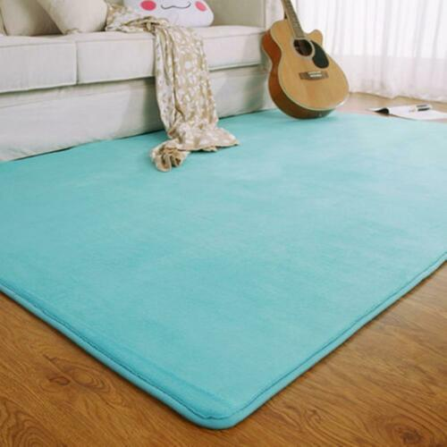 Fashion Memory Foam Solid Mat Area rug Bedroom Rugs Mats Car