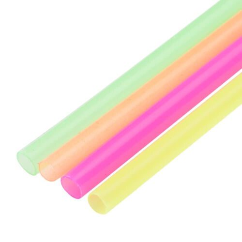 """Neon Cocktail Slim Straw Stir Sip 5"""" (1000) Free Shipping US Only"""
