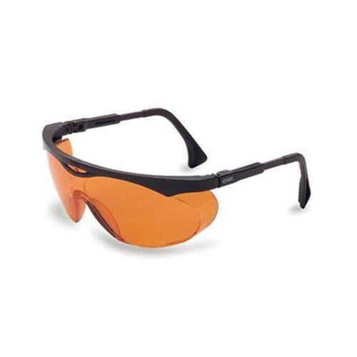 Skyper Safety Eyewear, Black Frame, SCT-Orange UV Extreme An
