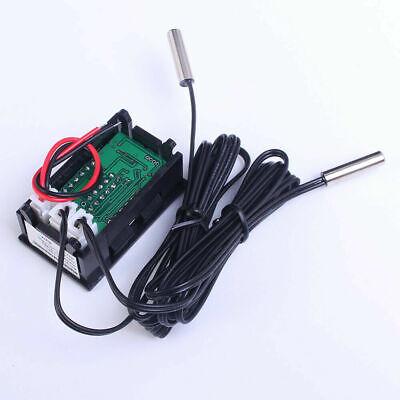Waterproof Thermometer Red Blue Led Dual Display Temperature Sensor Ntc Probe
