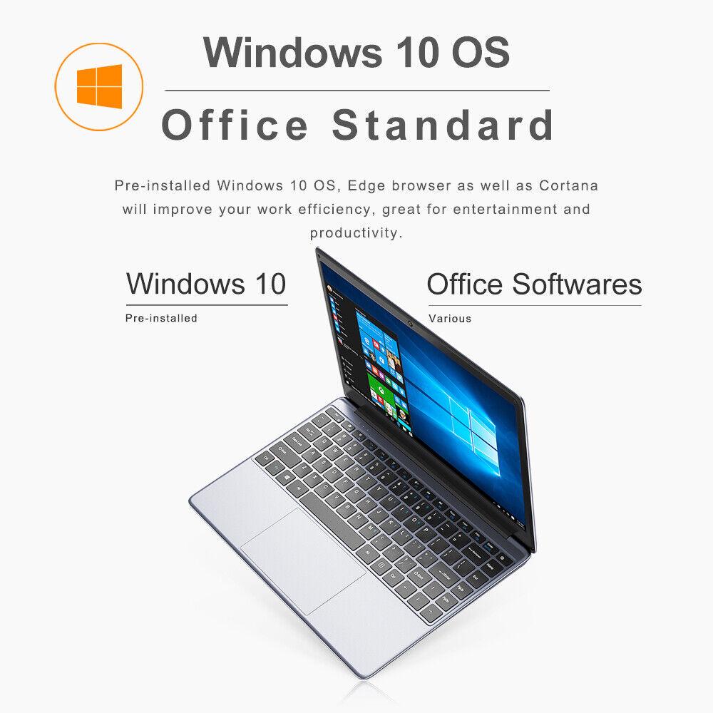 CHUWI HeroBook Pro 14.1 in Laptop Windows 10 Intel Dual Core 8+256G Notebook PC 11