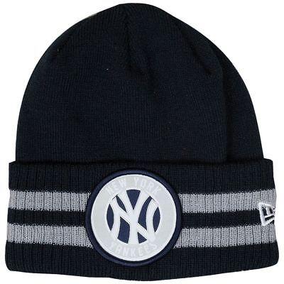 NEW New York Yankees New Era MLB 2 Stripe Beanie - Adult Toque Winter Hat Cap New Era Toque