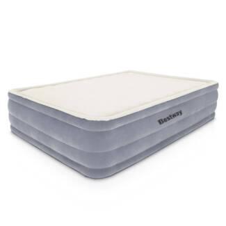 bestway queen inflatable air mattress bed w builtin electric pu