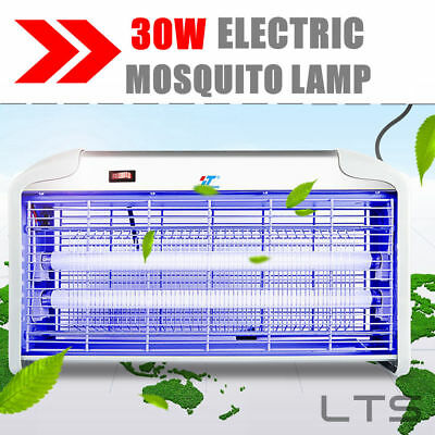 Power Indoor Insect Mosquito Fly Bugs Uv Lamp 30 Watt Killer Zapper Control