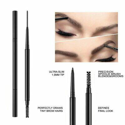 2 in 1 Eyebrow Pen Pencil Microblading Waterproof Makeup Tools Slim Brush Eyebrow Liner & Definition