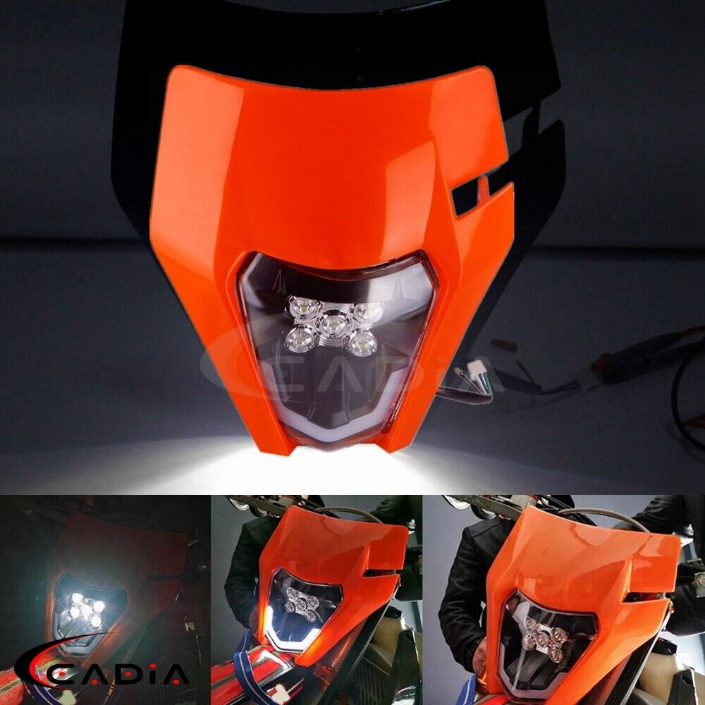 KTM LED Headlight Kits With Shell Enduro Trail EXC-F EXC