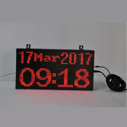 Large Digital LED GPS Wall Clock Automatic Time Set Calendar Date Big Numbers