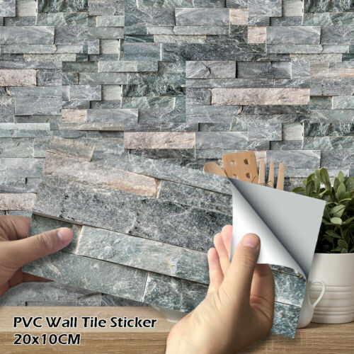 Home Decoration - Mosaic Sticker Kitchen Tile Stickers Bathroom Self-adhesive Wall Decor Home DIY