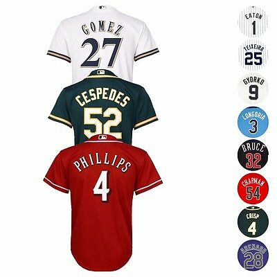 MLB Majestic Official Cool Base Player Jersey Collection Youth Size S-XL (8-20) (Mlb Majestic Jersey)