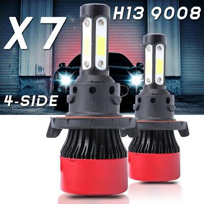 4-Sides H13 9008 LED Headlight Bulbs Hi/Lo Beam 6000K For Ford F-150 F-250 F-350
