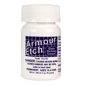 Armour Etch Glass Etching Cream - 3 oz  NEW FAST SHIPPING