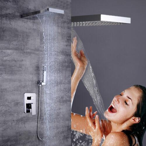 modern bath shower system concealed rainfall waterfal