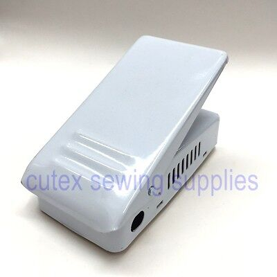 White Sewing Machine Cord - Universal White Metal Sewing Machine Foot Control #704NS-W, Pedal Only, No Cord