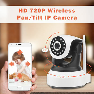 HD 720p Wireless Pan Tilt IP WiFi Camera Security CCTV Netwo