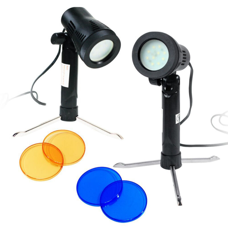 2 pcs Portable Table Top Continuous LED Light Photo Studio Photography