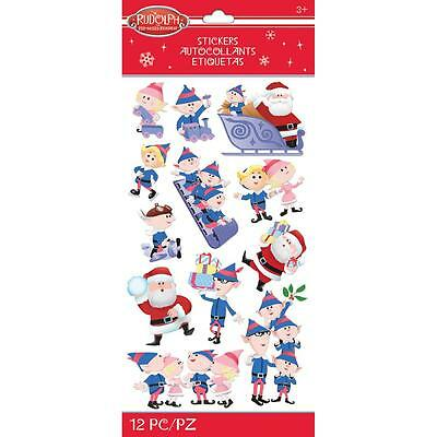 Scrapbooking Crafts Stickers Jolee's Christmas Rudolph Santa Claus Elves Sleigh - Christmas Scrapbook