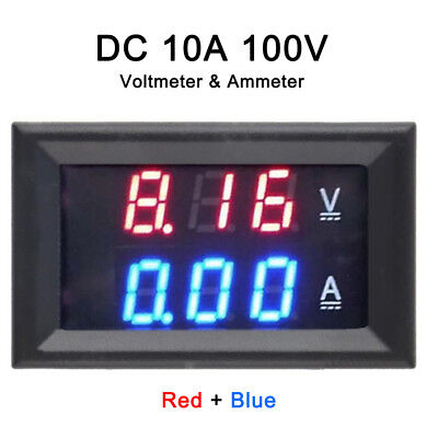 LED Digital Voltmeter Spannungsanzeige Amperemeter Strommesser DC 0-100V 0-10A (Ampere-meter)
