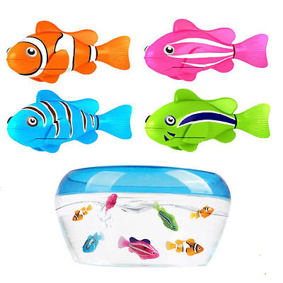 Robotic Robo Fish Water Activated Battery Powered Shark Clownfish Kids Toy