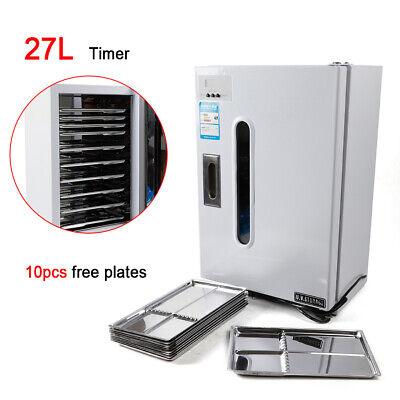 27l Dental Medical Uv Sterilizer Cabinet Machine With Timer 10 Plates Us Stock