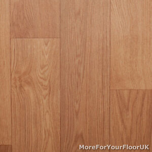 Thick vinyl flooring beech wood plank natural effect for Lino flooring wood effect