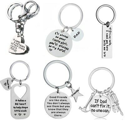 Keychain Brother Best Friend Gift For Father Dad Teacher Keyring Present